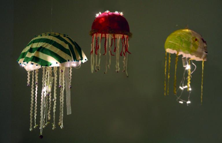 Discomedusae – Meeresquallen Kunstprojekt im KindElternZentrums Lieskau