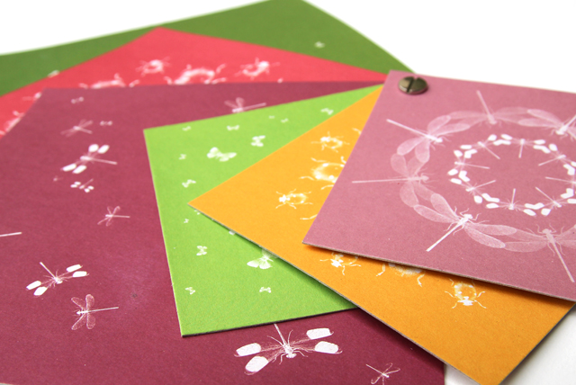 Origamipapier Insektenschwarm-  Suse Kaluza Papierdesign