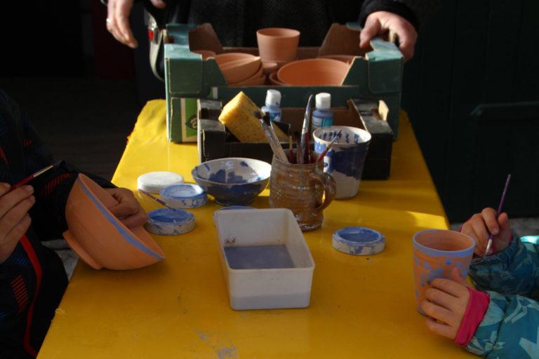 Keramik zum Selbstbemalen bei Suse Weise